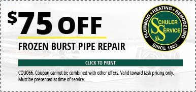 frozen pipe service coupon