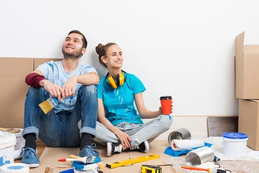 Couple Taking a Break from Their Remodeling Project